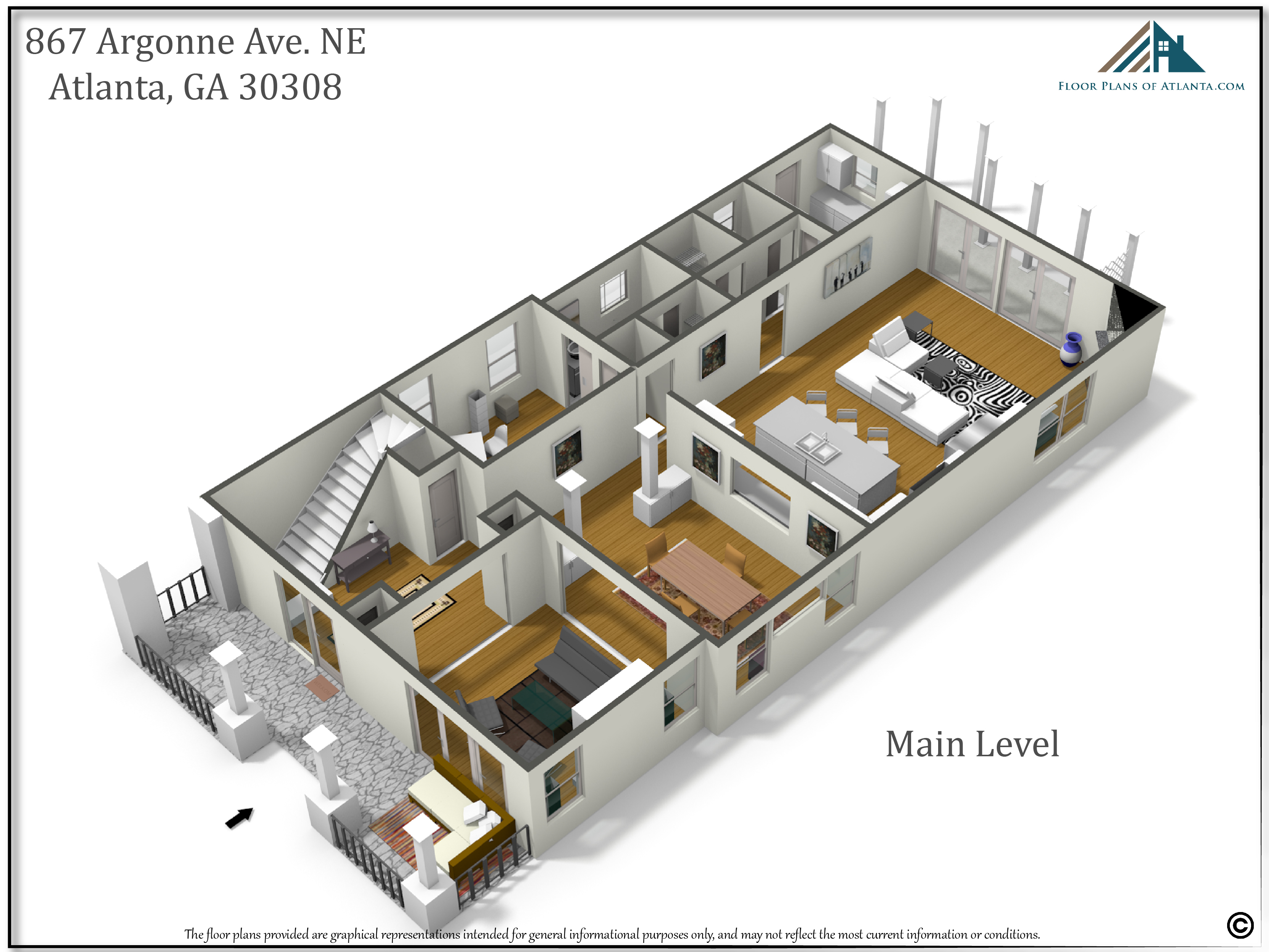 4 - Main level perspective #1