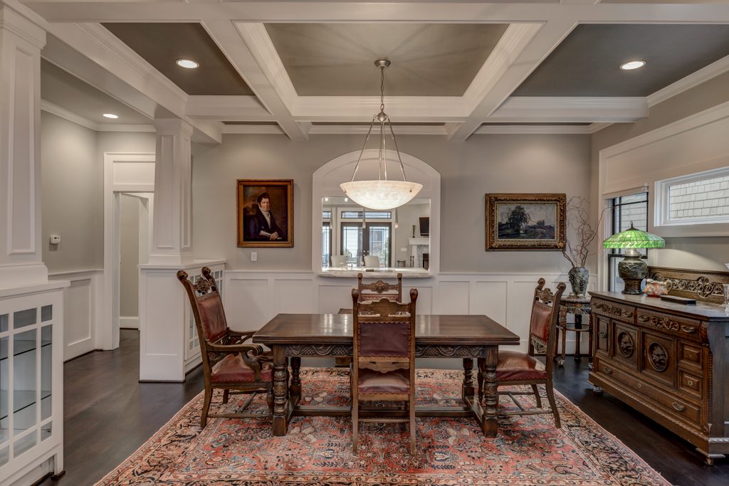 7 - Dining room with built-in cabinetry