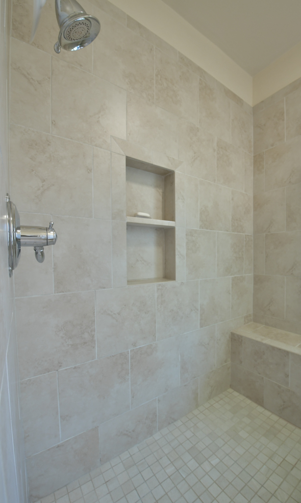23. Master shower with bench