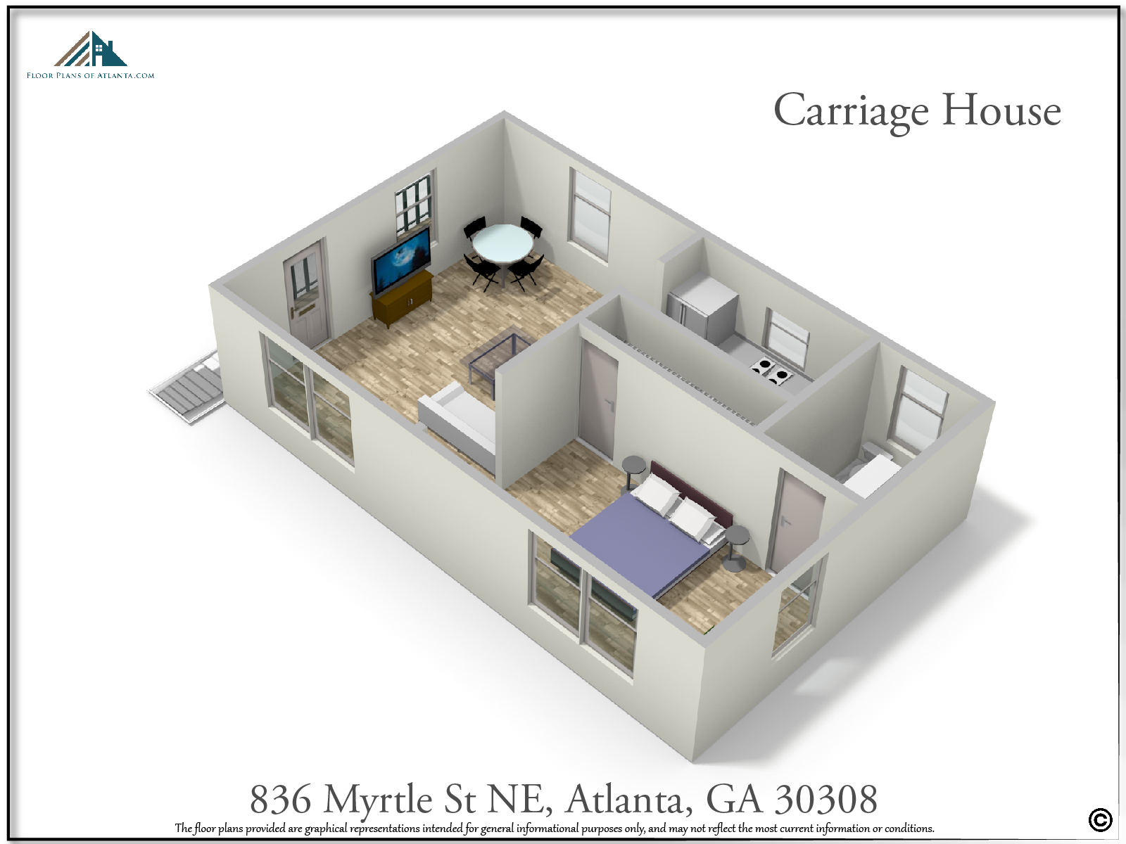 Carriage House Floor Plan - Perspective #3
