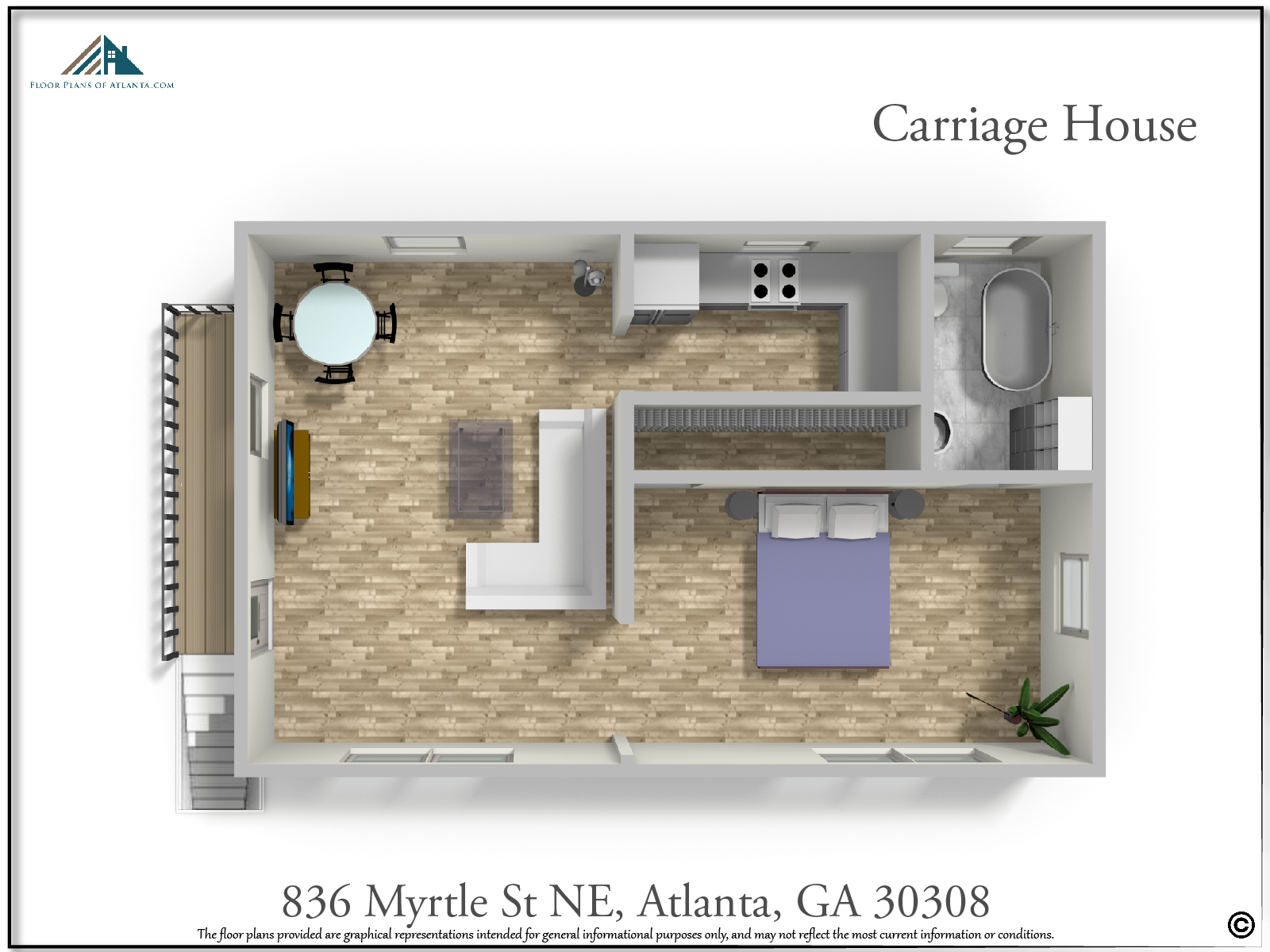 Carriage House Floor Plan - Perspective #2