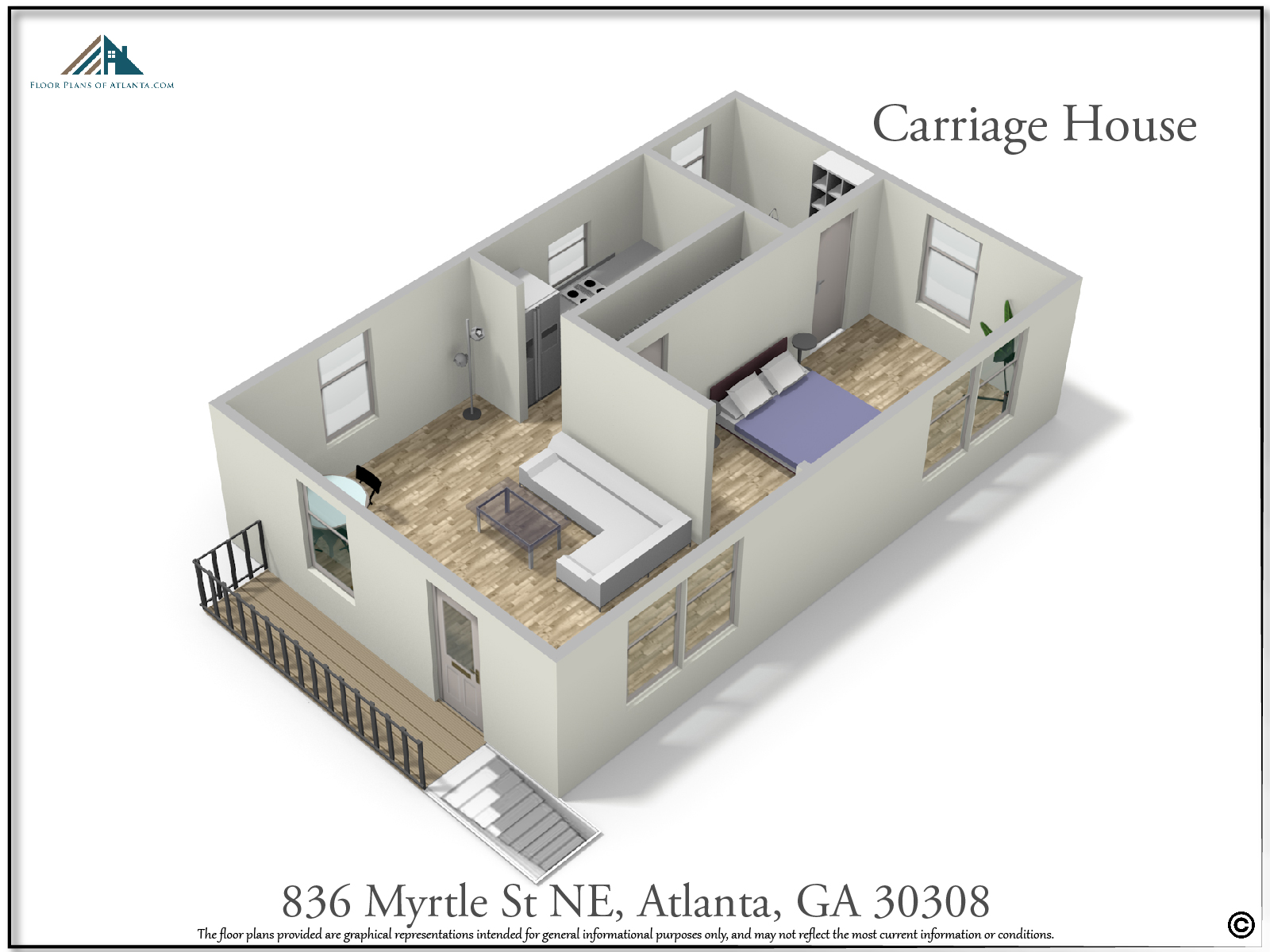 Carriage House Floor Plan - Perspective #1