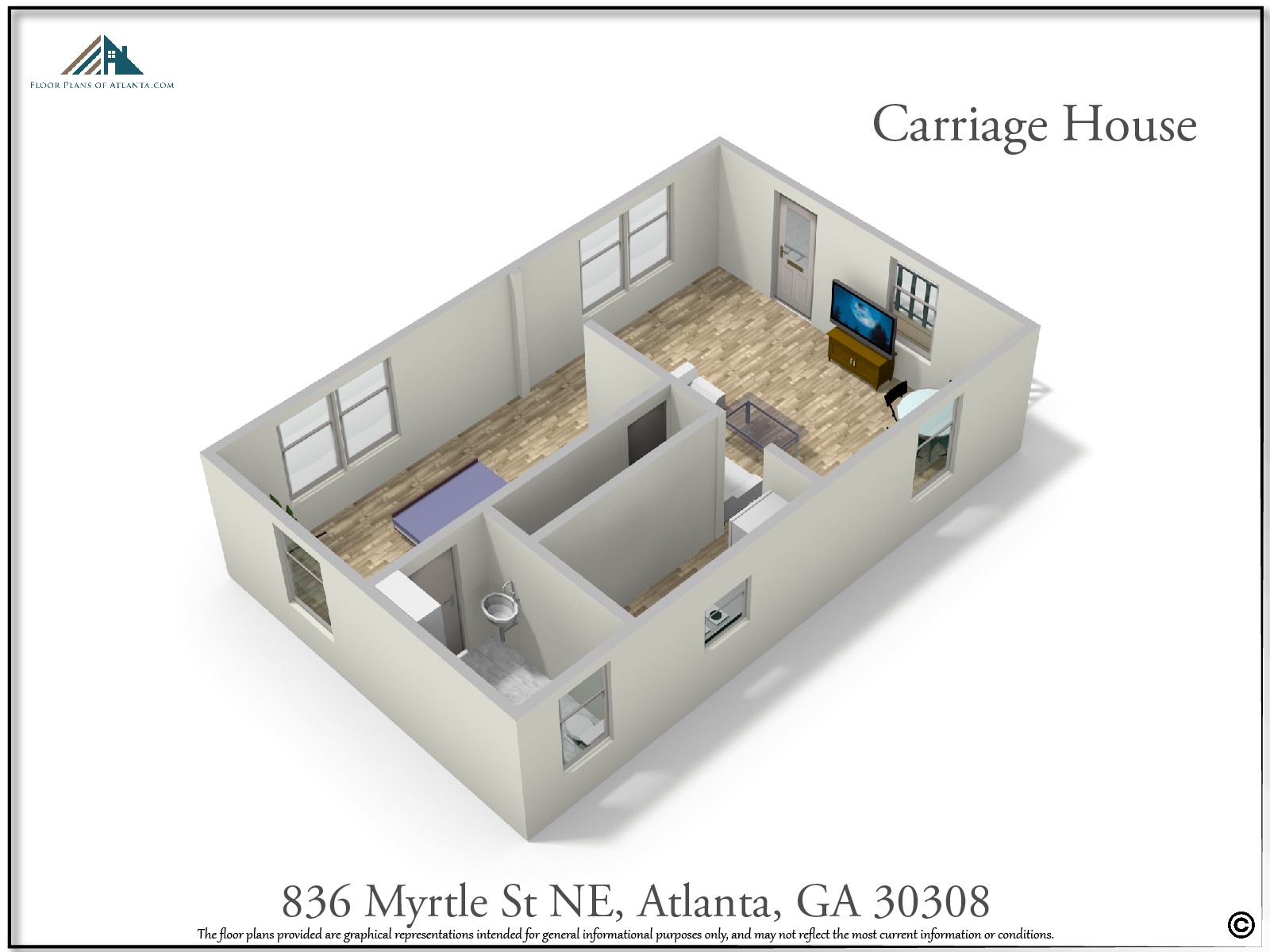 Carriage House Floor Plan - Perspective #4
