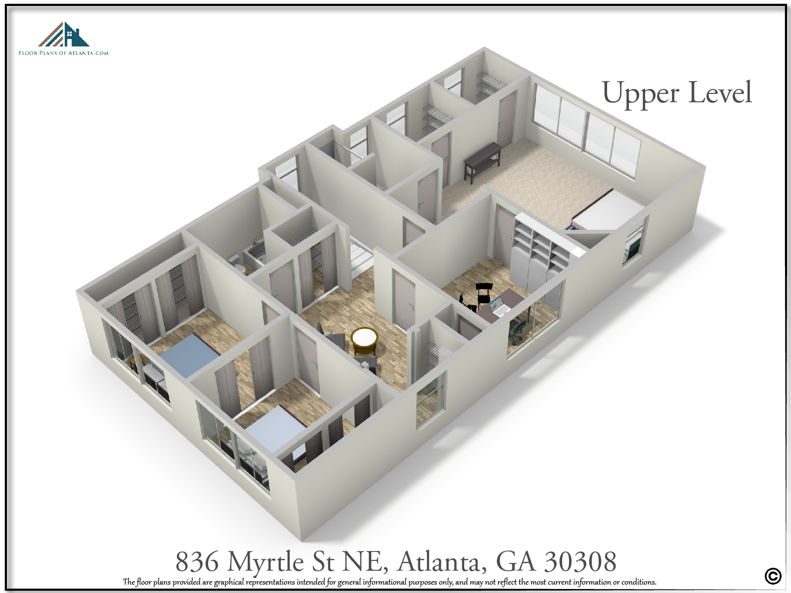 Upper Level Floor Plan - Perspective #4