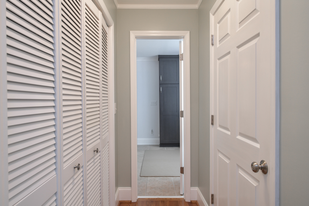 Master bedroom reach-in closet plus walk-in closet