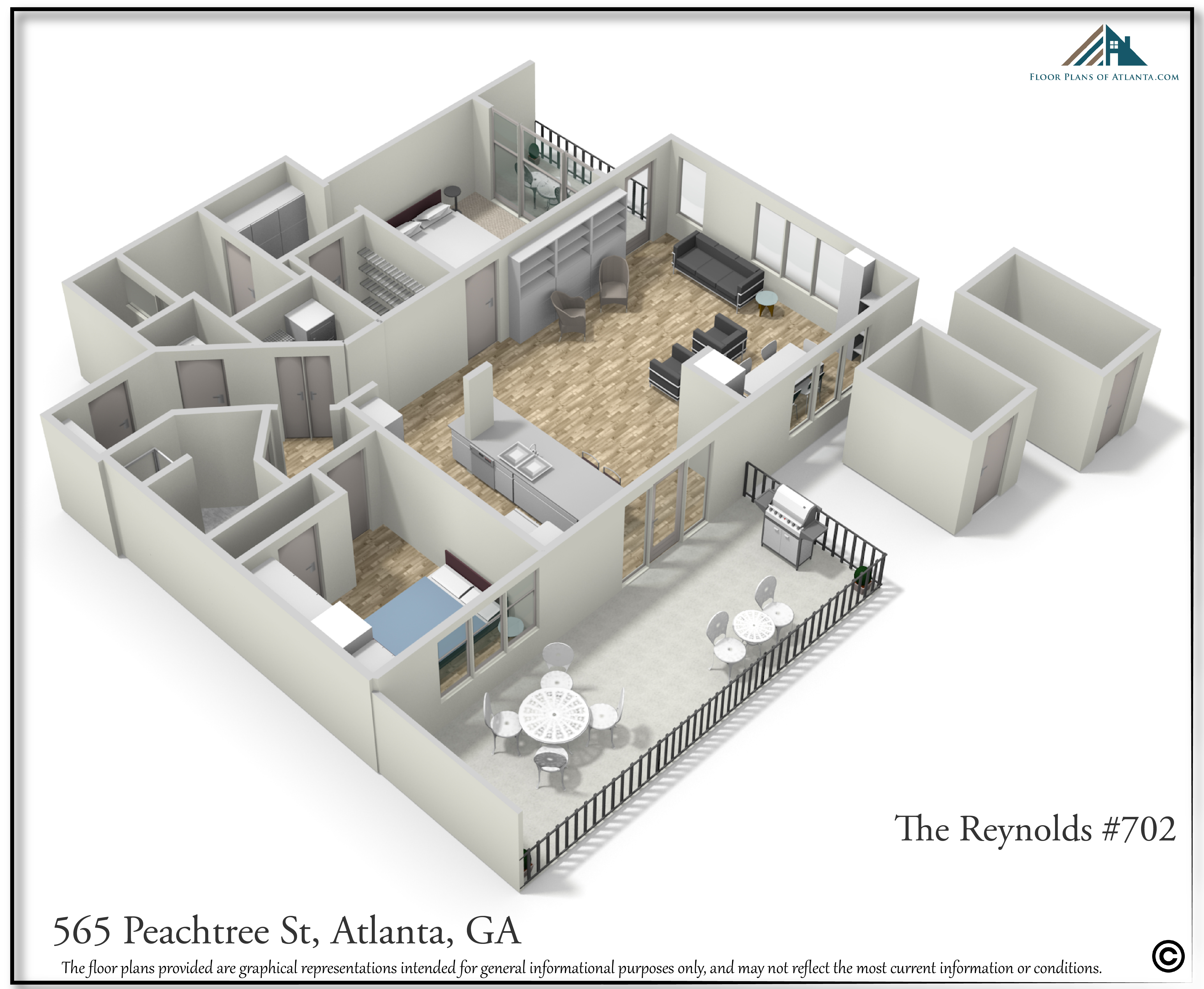 30. Perspective #3. Storage rooms are on basement level