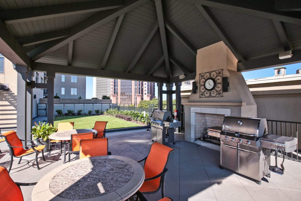 44. Grilling area and lawn
