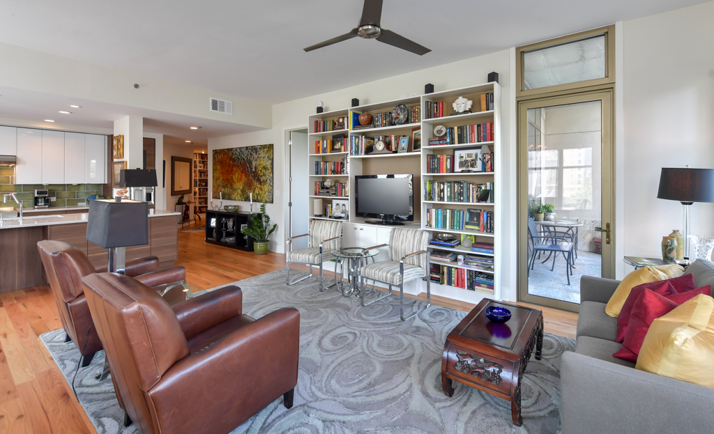 6. Custom built-in bookcase and storage